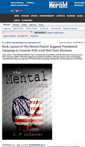 Media coverage of book launch The Mental Patient
